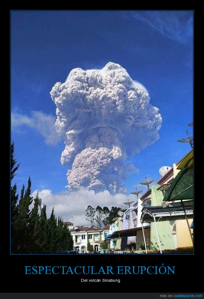 erupción,sinabung,volcán