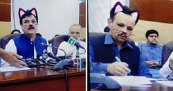 Enlace a El gobierno de Pakistán enciende accidentalmente el filtro de gato durante una rueda de prensa en vivo por Facebook