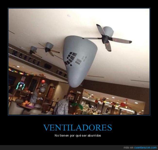 avión,ventiladores