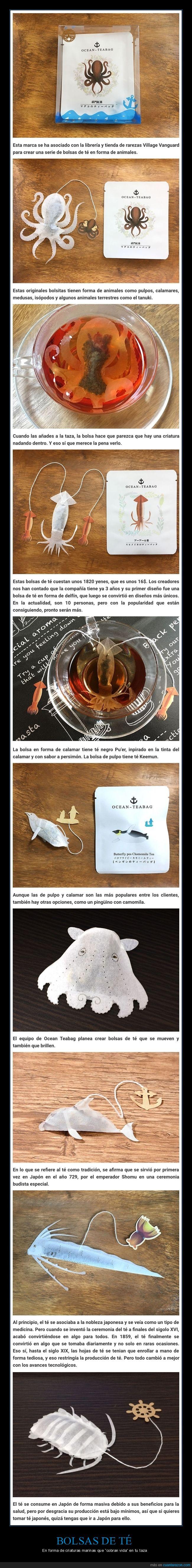 bolsas de té,criaturas marinas,formas