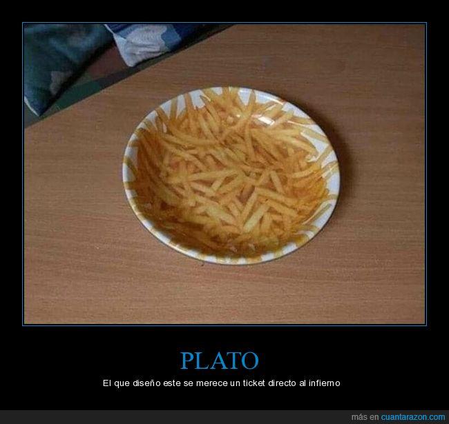 patatas fritas,plato,wtf