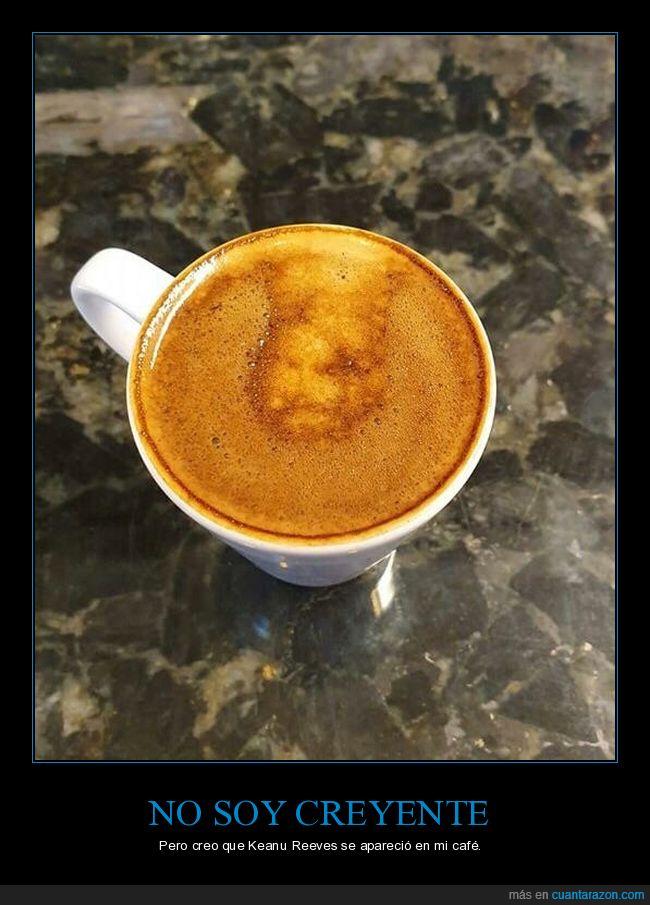 aparición,café,keanu reeves