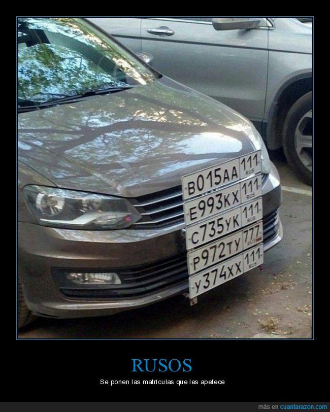 coche,matrículas,rusos,wtf