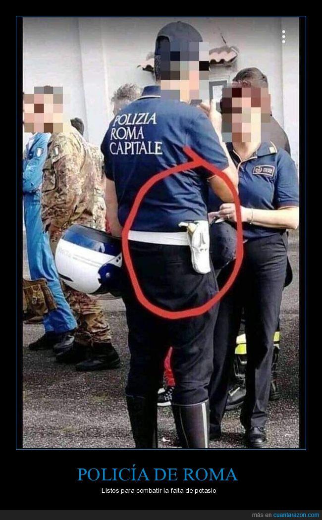 plátano,policía,wtf