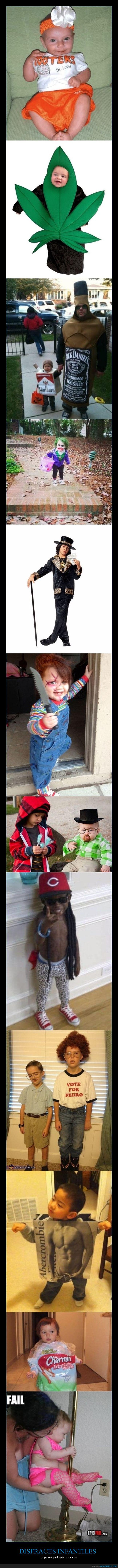 disfraces infantiles,fails,niños,wtf