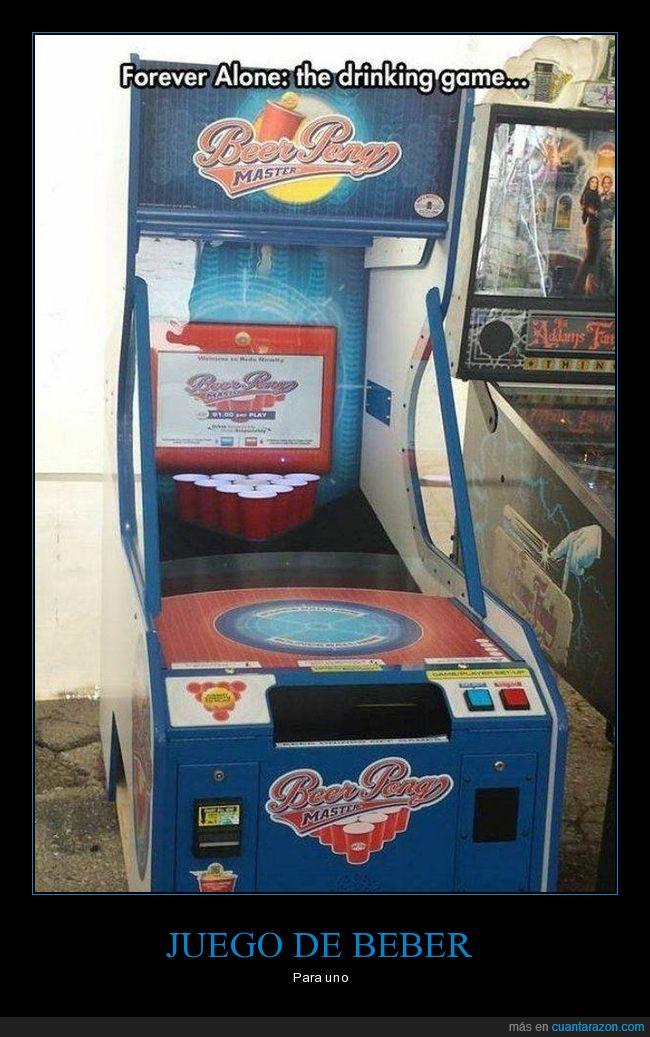 beber,beer pong,forever alone,juego