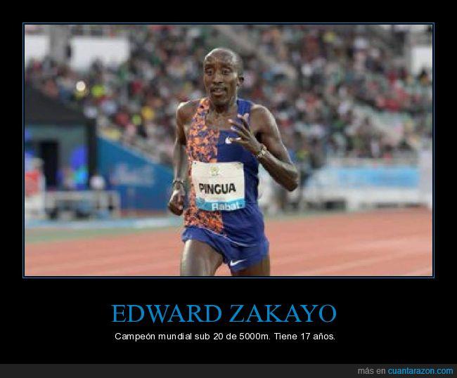 17 años,campeón,edad,edward zakayo,wtf