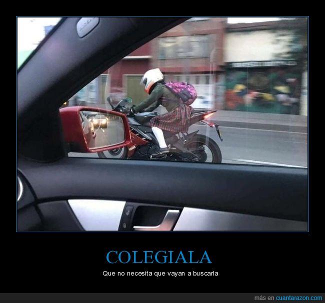 colegiala,moto,wtf