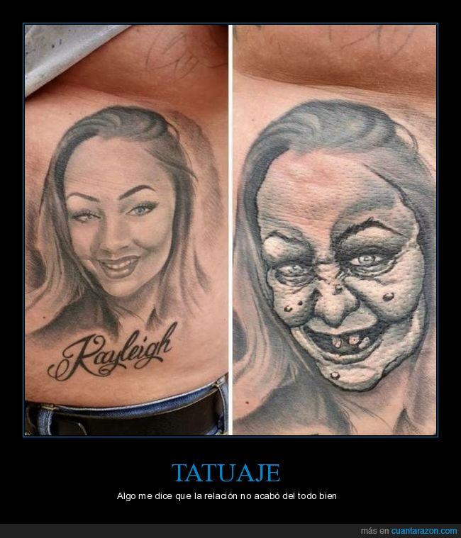 antes,después,modificado,novia,tatuaje