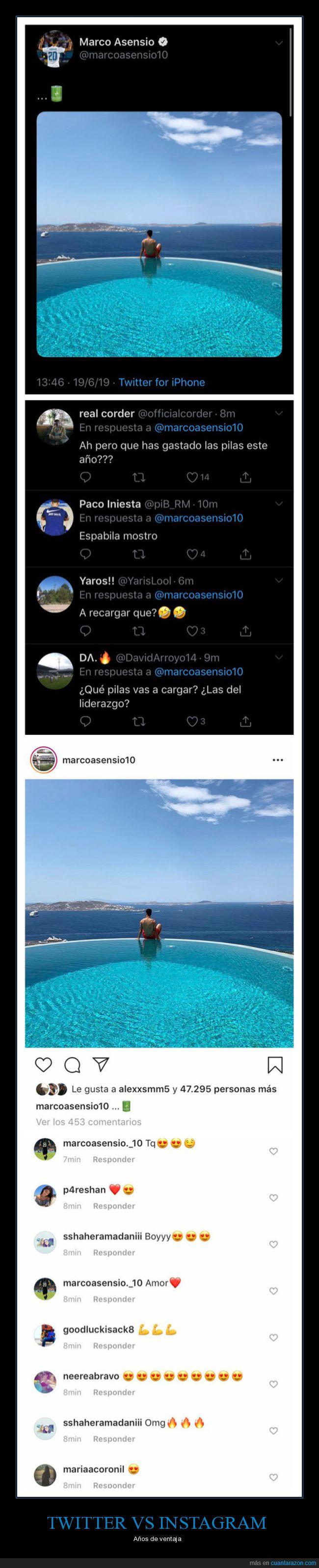 diferencias,instagram,twitter
