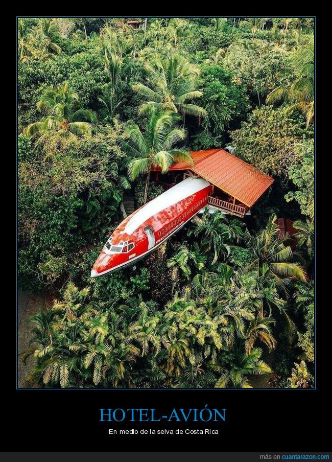 avión,costa rica,hotel,selva