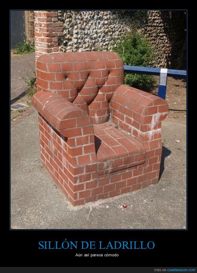 ladrillo,sillón,wtf