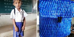 Enlace a Este profesor comparte fotos de la mochila de uno de sus alumnos, cuyo padre fabricó para ahorrar dinero