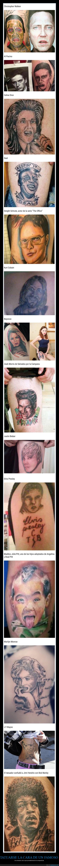 caras,fails,famosos,tatuajes