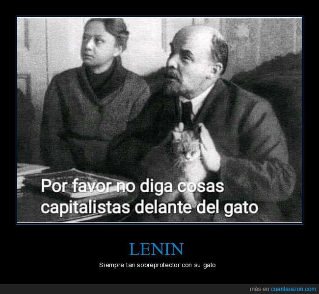 capitalismo,gato,lenin