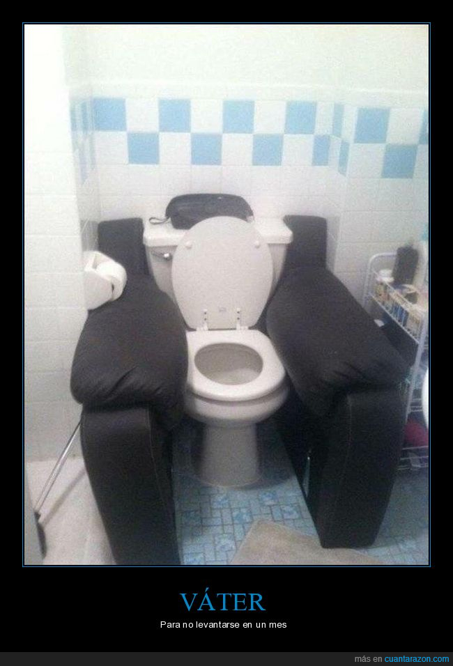 cómodo,sillón,váter,wtf