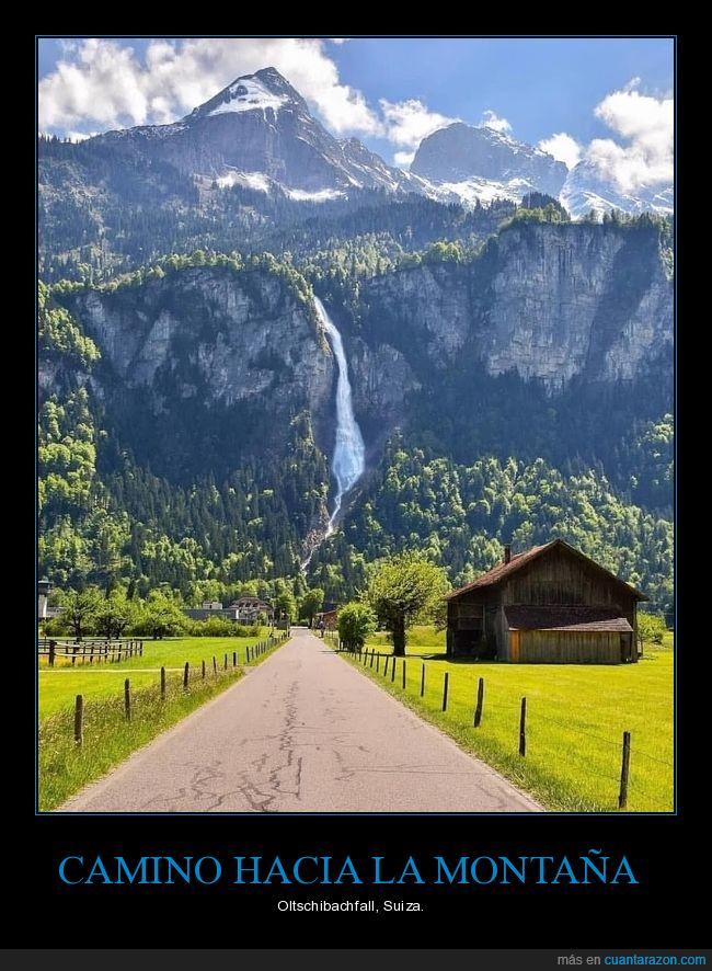 camino,montaña,oltschibachfall,paisaje,suiza