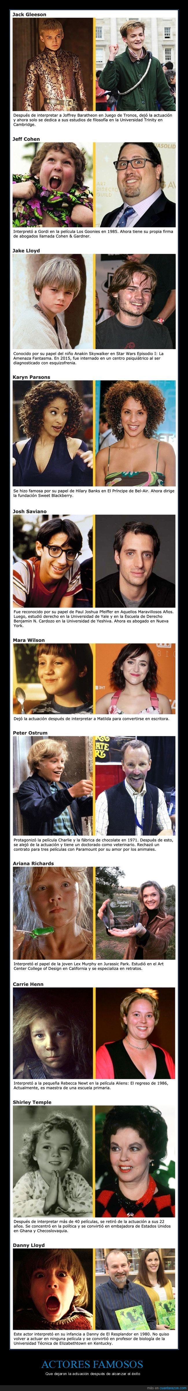 actores,actuación,cine,curiosidades,dejar,famosos