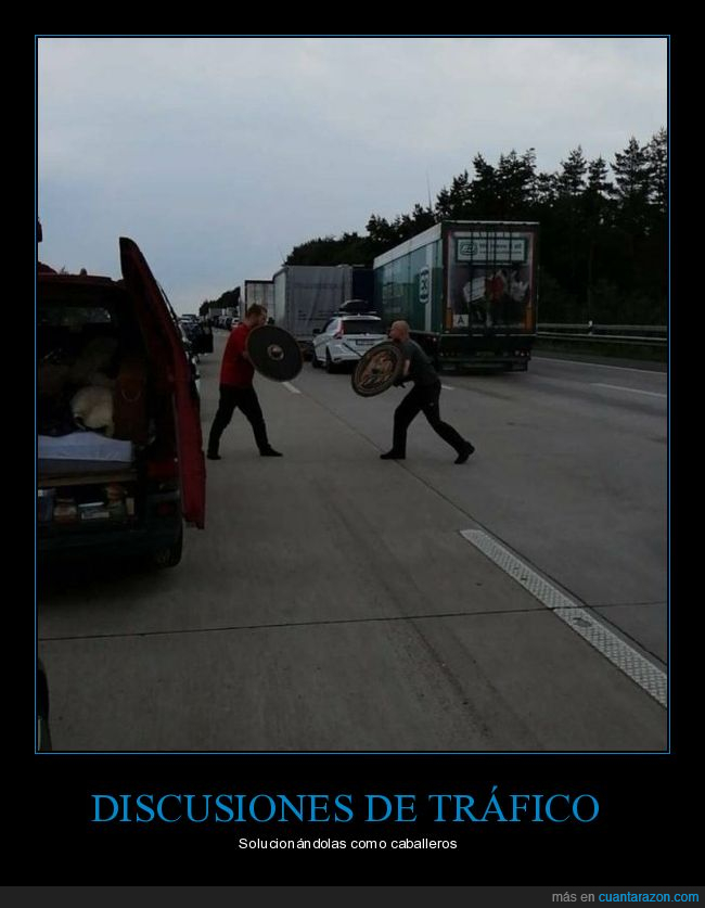 carretera,escudos,espadas,pelea,wtf