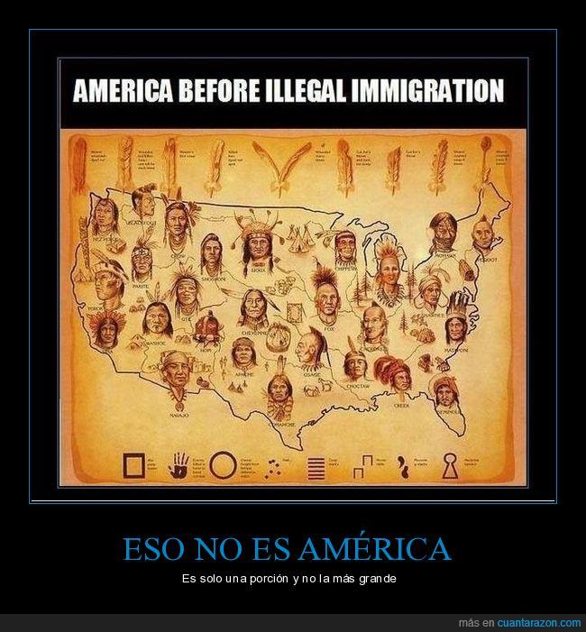 américa,inmigración ilegal,porción