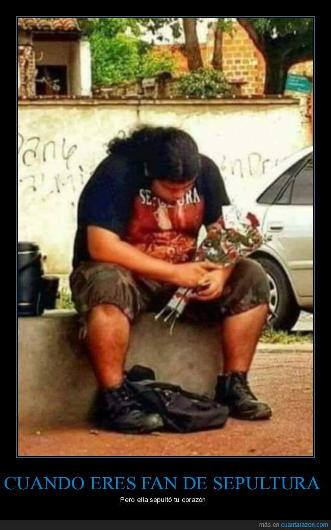 corazón,ramo,sepultar,sepultura,triste