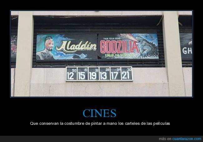 carteles,cine,películas,pintados a mano