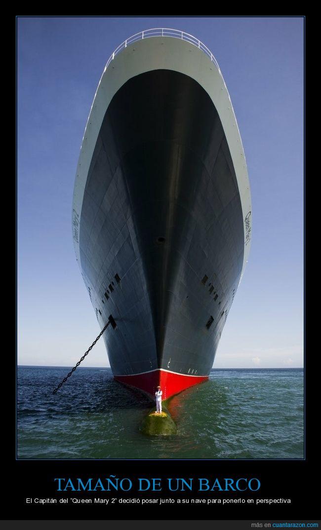 barco,capitán,queen mary 2,tamaño
