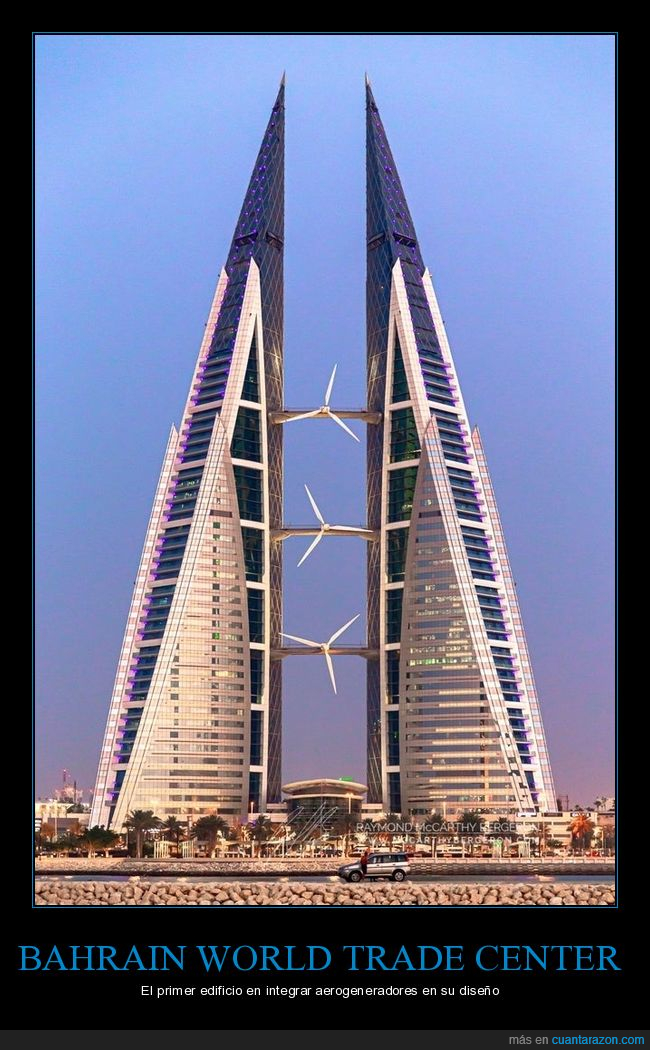 bahrain world trade center,edificios,molinos eólicos