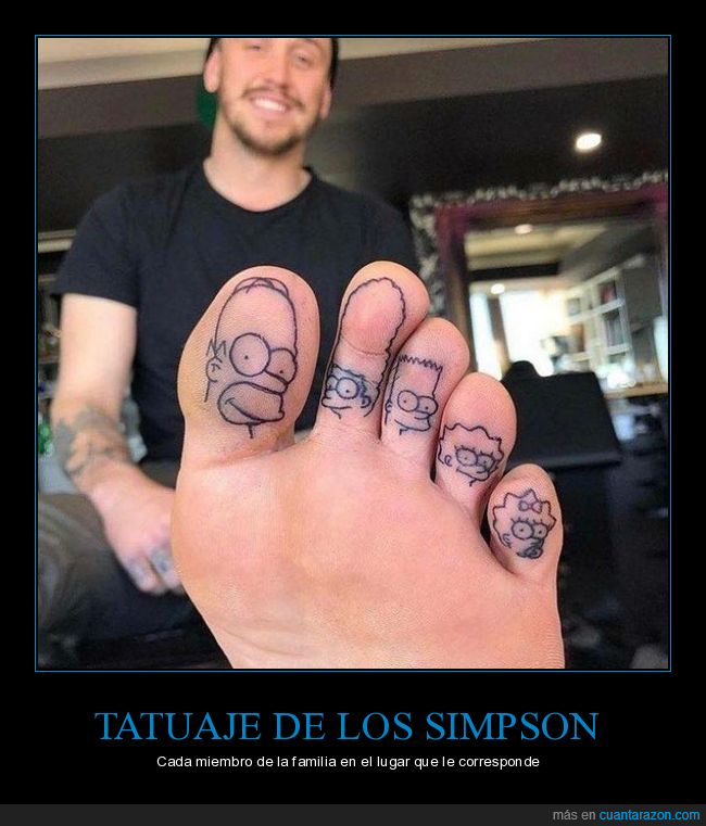 dedos,pie,simpsons,tatuaje