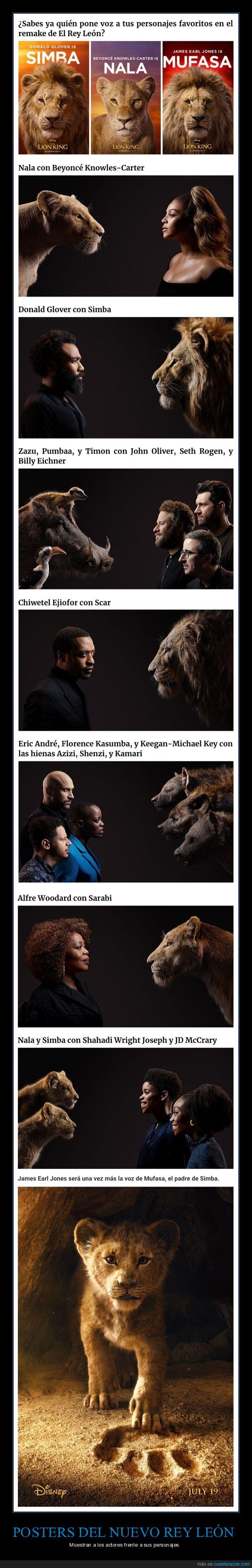 actores,cine,el rey león,posters