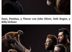 Enlace a Los posters del nuevo Rey León muestran a los actores frente a sus personajes