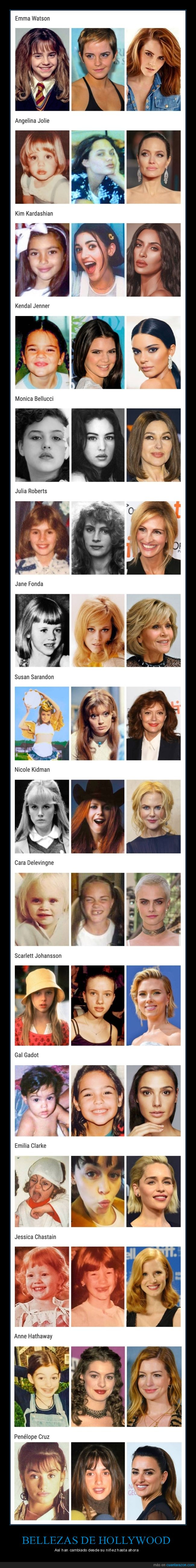 actrices,ahora,antes,cine,hillywood