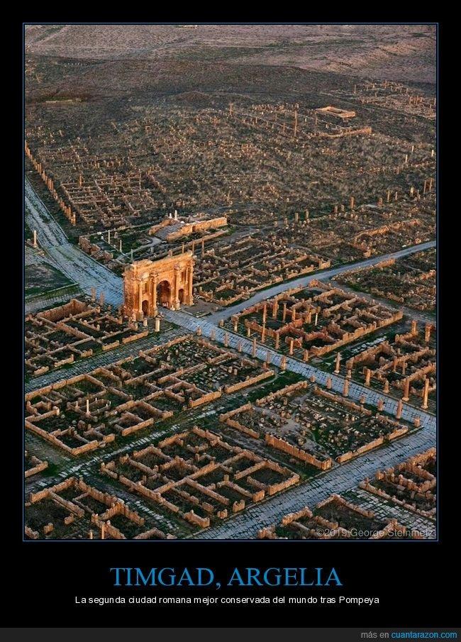argelia,cidad romana,curiosidades,timgad