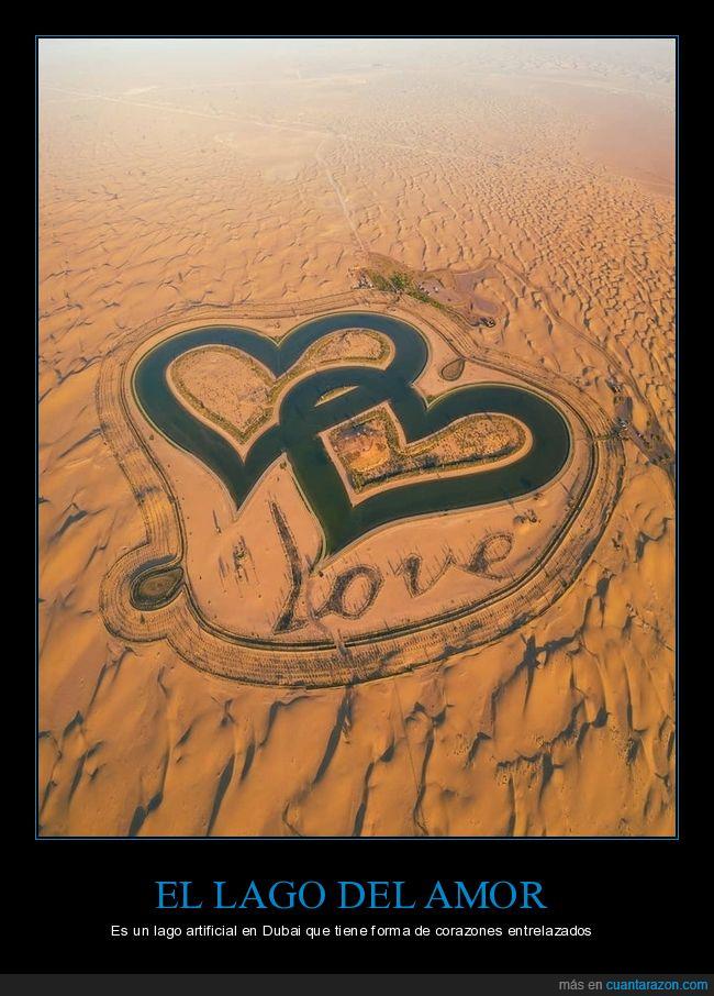 amor,corazones,lago