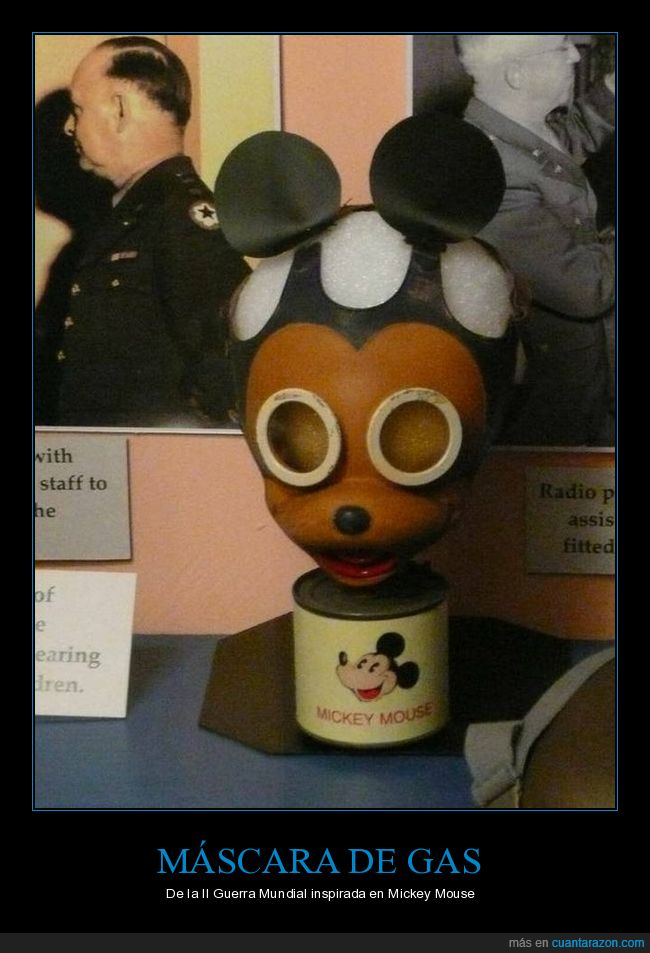 ii guerra mundial,máscara de gas,mickey mouse