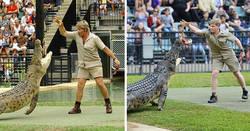 Enlace a Fotos comparando a Irwin padre e hijo que demuestran que de tal palo, tal astilla