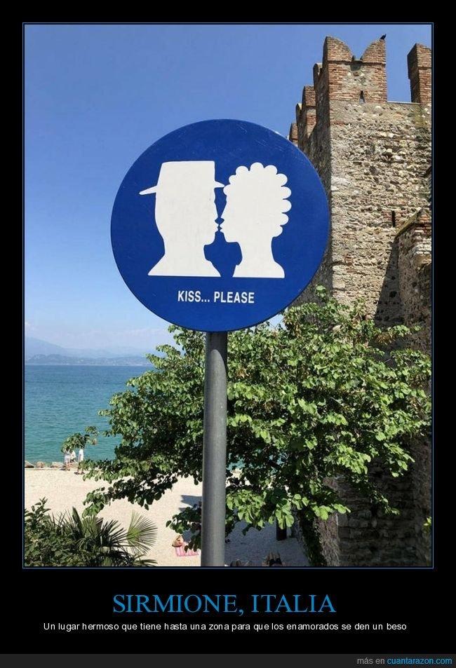besos,enamorados,italia,sirmione,zona