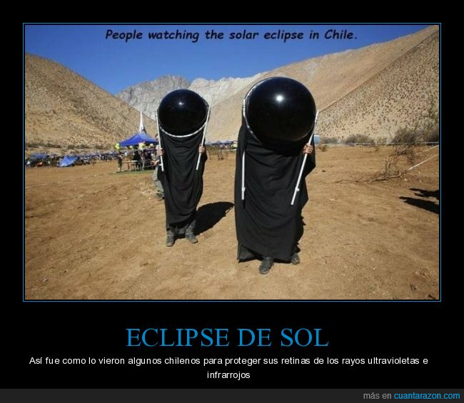 chilenos,eclipse,mirando