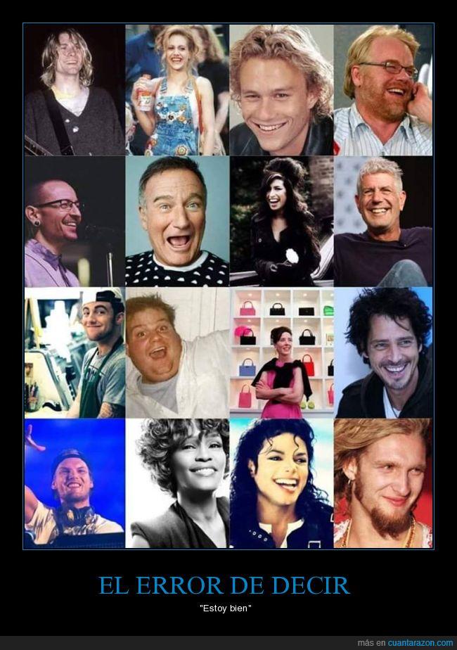 buena cara,depresión,estar bien,famosos