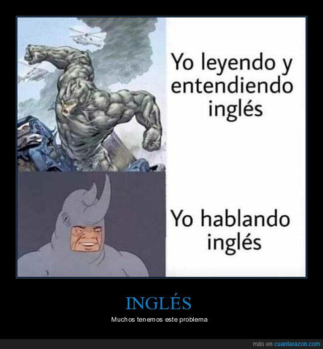 entender,hablar,inglés,leer,rhino,spiderman