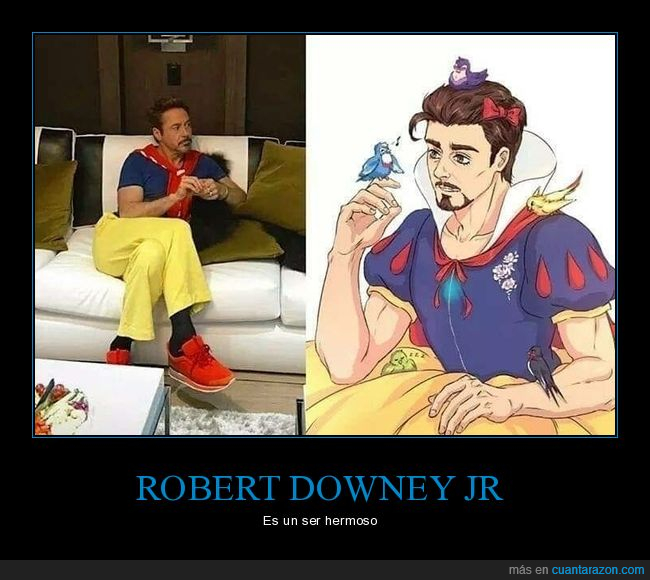blancanieves,parecidos,robert downey jr