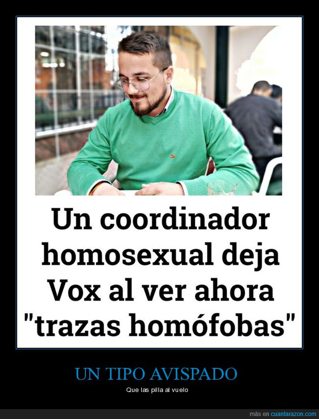 dejar,homfobia,homosexual,políticos,vox