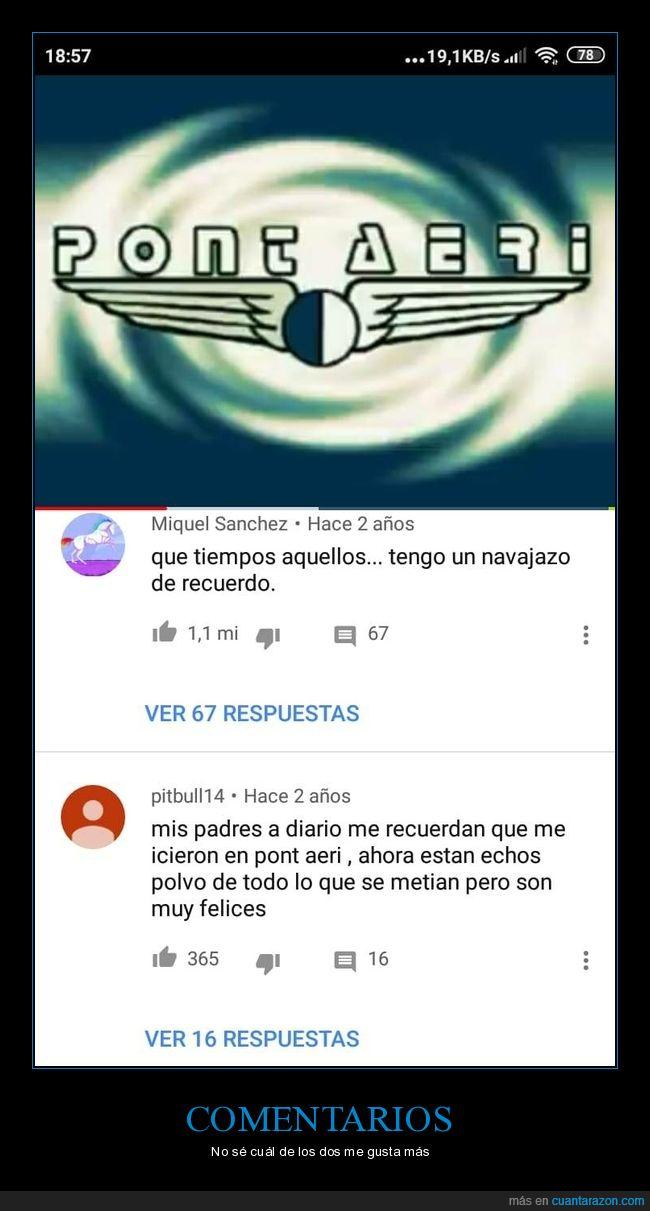 comentarios,pont aeri