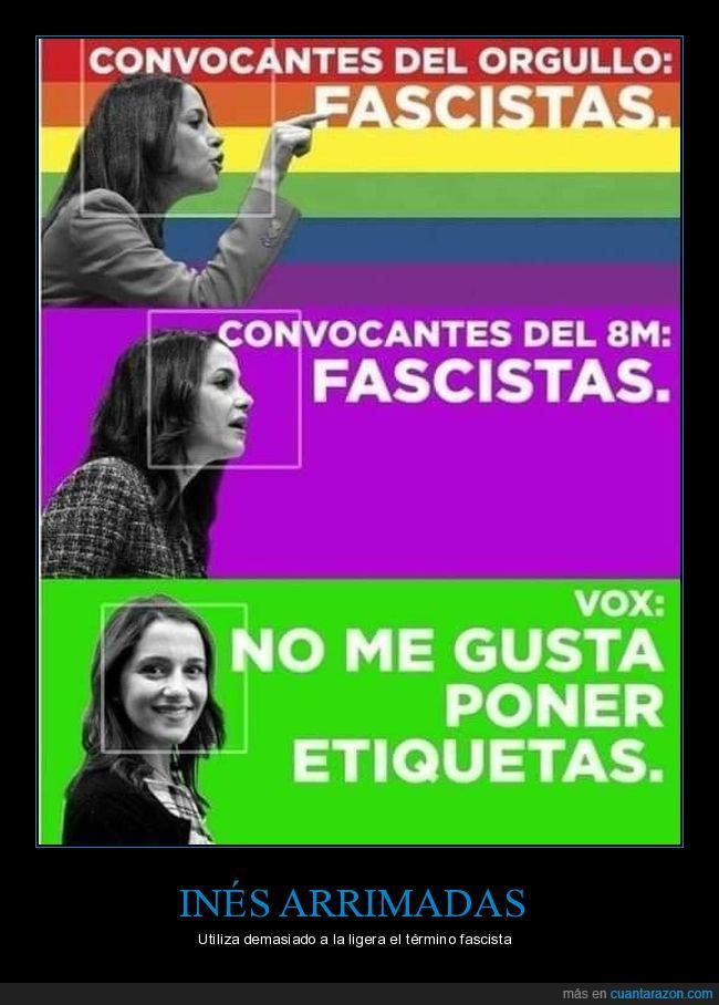 fascistas,inés arrimadas,orgullo gay,políticos,vox