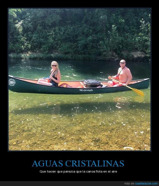 agua,canoa,transparente