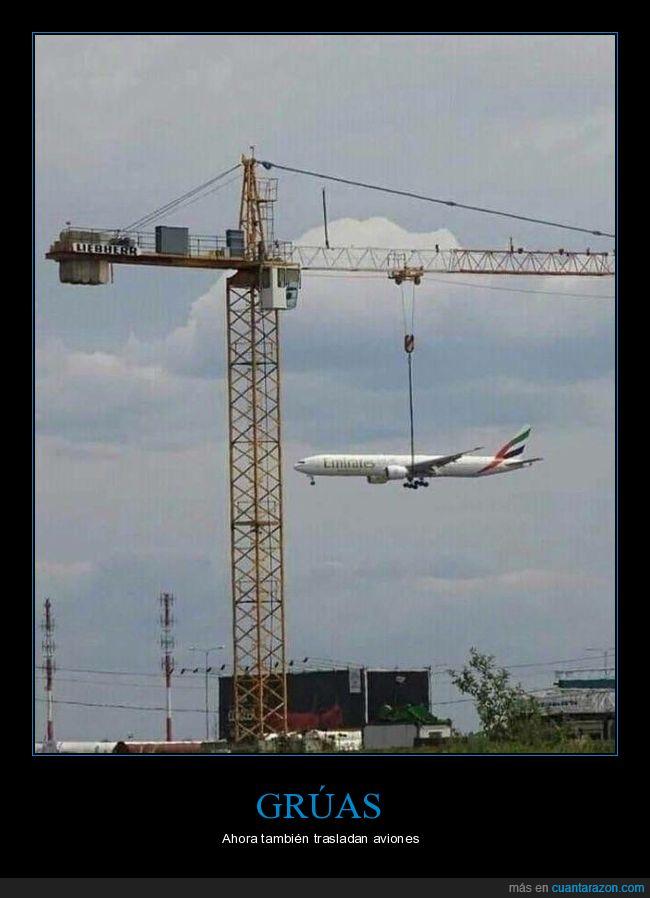 avión,grúa,momento exacto
