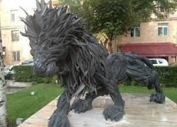 Enlace a Escultura reciclada