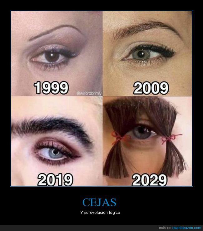 años,cejas,evolución