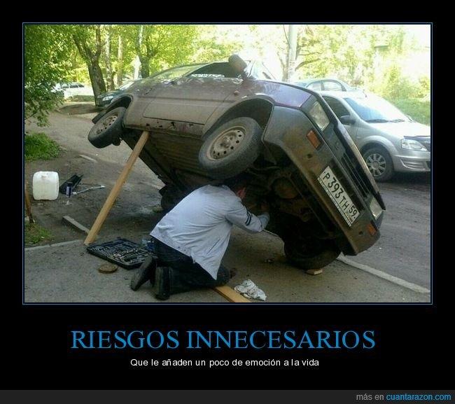 coche,palo,seguridad,wtf