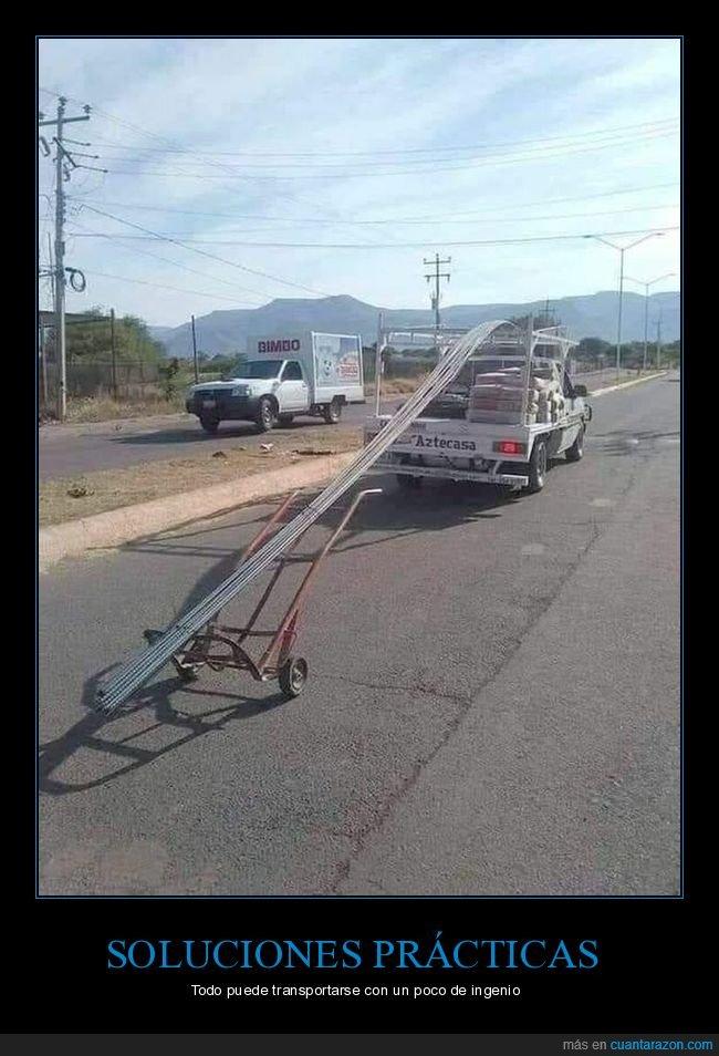 camioneta,carretilla,transportando,wtf